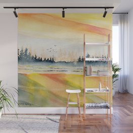 Sunset Reflections Wall Mural