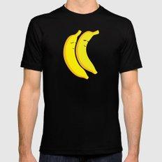 Spooning Bananas MEDIUM Black Mens Fitted Tee