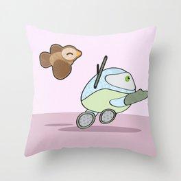Rito B2 and Birdy Throw Pillow