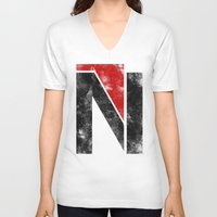 n7 V-neck T-shirts featuring N7 new logo by BomDesignz