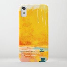 sunny landscape iPhone Case