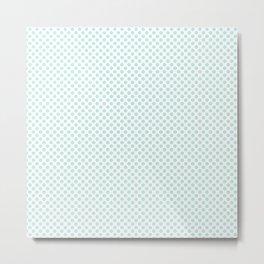 Soothing Sea Polka Dots Metal Print