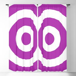 Target (Purple & White Pattern) Blackout Curtain
