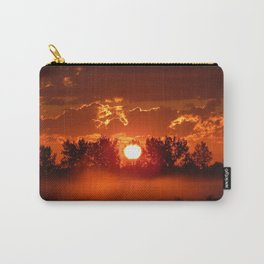 Flaming Horses over the Foggy Sunrise Carry-All Pouch