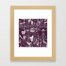 Da Vinci's Anatomy Sketchbook // Blackberry Framed Art Print