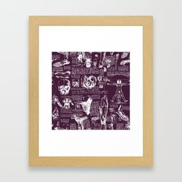 Da Vinci's Anatomy Sketchbook // Blackberry Framed Art Print