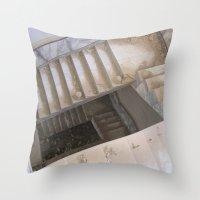 escher Throw Pillows featuring Escher by KMZphoto