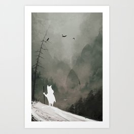 Buka - God of Winter Art Print