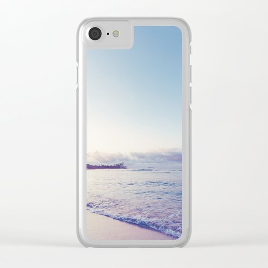 beach time ver.pink Clear iPhone Case