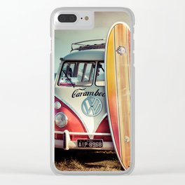 Surf bus Clear iPhone Case