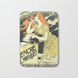 Marquet ink, art nouveau ad by Grasset Bath Mat