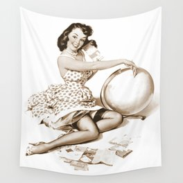 Out of This World by Gil Elvgren Pin Up Girl Wall Tapestry