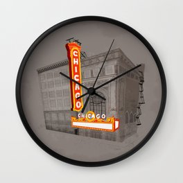 The Chicago Theater Wall Clock