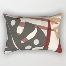 Monstera Black Rectangular Pillow