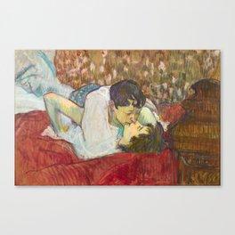 """Henri de Toulouse-Lautrec """"In Bed. The Kiss"""" Canvas Print"""