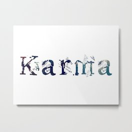 Karma - White Metal Print