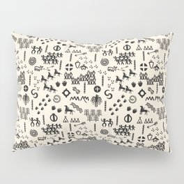 Peoples Story - Black and Creme Pillow Sham