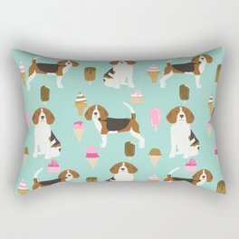 beagle ice creams dog lover pet gifts cute beagles pure breeds Rectangular Pillow