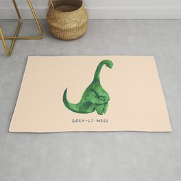 Lonely loch ness monster (loch-li-ness) Rug