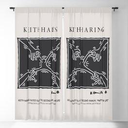 Keith Art, Exhibition Poster, Japan Vintage Print Blackout Curtain
