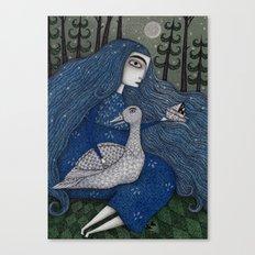 The White Duck Canvas Print