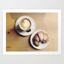 Cappuccino & Brioche Art Print