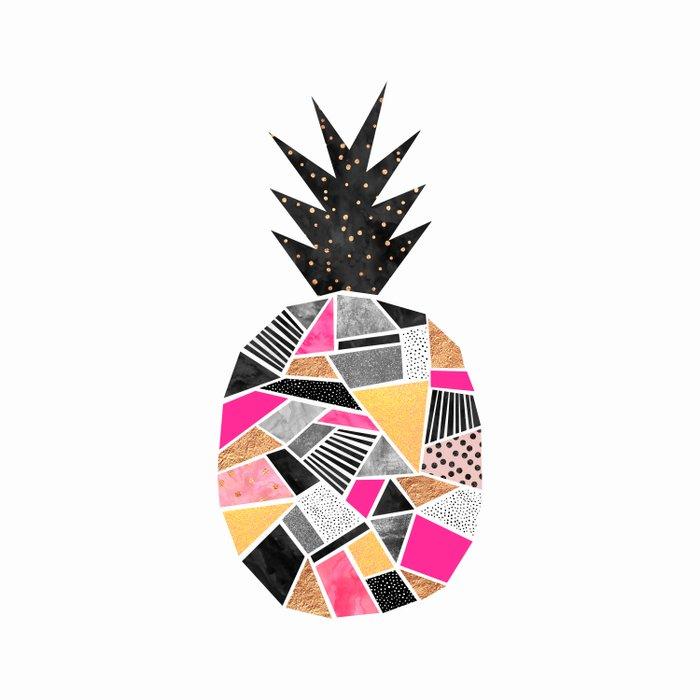 Pretty Pineapple Duvet Cover