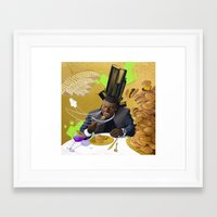 gucci Framed Art Prints featuring Gucci Mane by Karlyfries Studios