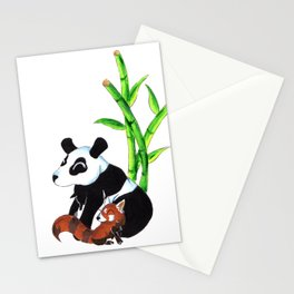 Panda Duo Stationery Cards