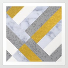 Gold Concrete Marble Art Print