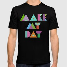 Make My Day. Black MEDIUM Mens Fitted Tee