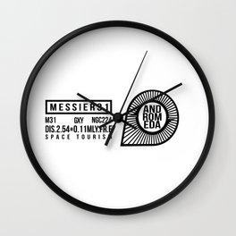 Space Tourism,Galaxy, Black logo Wall Clock