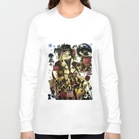 mad hatter Long Sleeve T-shirts featuring MAD ALICE: HATTER by Chandelina