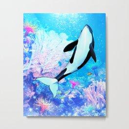 Orca 3 Metal Print