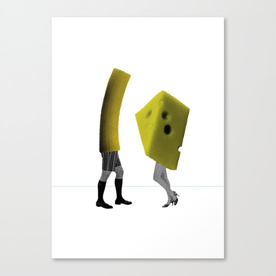 Because she's the cheese and I'm the macaroni Canvas Print