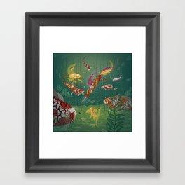 Ukiyo-e tale: The magic pen Framed Art Print
