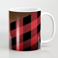wooden Mugs featuring Wooden Lumberjack by Nicklas Gustafsson