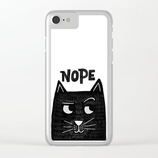 nope kitty Clear iPhone Case
