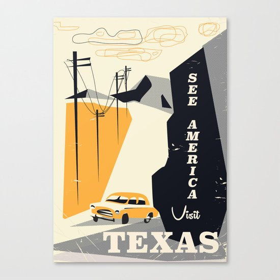 See America visit Texas Canvas Print