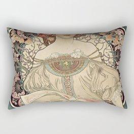 Alphonse Mucha - Vintage Advertisement Poster for F. Champenois, Printer & Publisher (1898) Rectangular Pillow