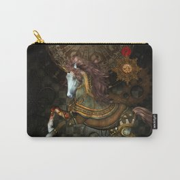 Steampunk,mystical steampunk unicorn Carry-All Pouch