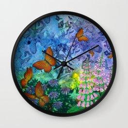 Monarch Haven Wall Clock
