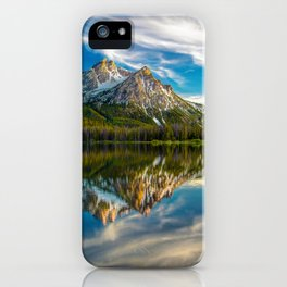 Sawtooth Range Morning Reflection iPhone Case