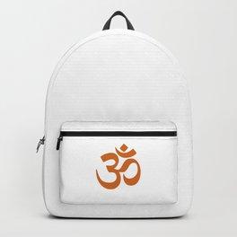 Burnt Orange Hindu Om Symbol  Backpack