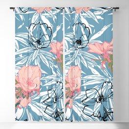 Backyard Palm #tropical #illustration Blackout Curtain