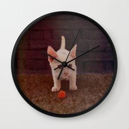 Alley Kitten Wall Clock