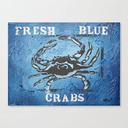 Fresh Blue Crabs Canvas Print