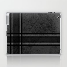 Grungy Grey Plaid Laptop & iPad Skin