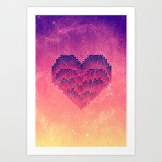 Interstellar Heart III Art Print