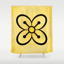 Bese Saka - Adinkra Art Poster Shower Curtain